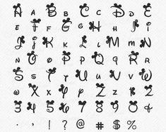 Disney Alphabet SVG Disney Schriftart Svg Ohren Svg Minnie image 2 In terms of producing Script Alphabet, Alphabet Police, Calligraphy Fonts Alphabet, Hand Lettering Alphabet, Handwriting Fonts, Cute Alphabet, Disney Alphabet, Disney Letters, Police Disney