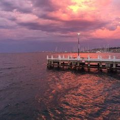 Did you catch last night's spectacular pink and orange sky at sunset? Geelong waterfront at it's best! by royalgeelongyachtclub http://ift.tt/1JtS0vo