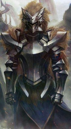 Fantasy Art Warrior, Fantasy Armor, Medieval Fantasy, Dark Fantasy Art, Final Fantasy, Dnd Characters, Fantasy Characters, Armor Concept, Concept Art