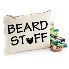 Beard Stuff. Funny Toiletry Bag. Man Bag. Gifts for Guys. Accessory Bag. Beard Grooming Kit Bag. Moustache. Dad Gift. Fathers Day. Mustache by SoPinkUK on Etsy
