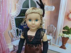 "American Made Downton Evening Gown fits 18"" Girl Dolls -- Elegant 4-Piece Set - pinned by pin4etsy.com"