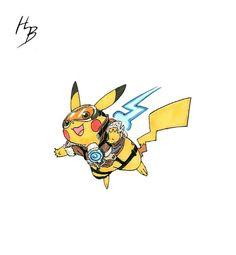 Pokemon into Overwatch Characters Overwatch Pokemon, Overwatch Tracer, Fan Art Pokemon, Pokemon Fusion Art, Pikachu, Pokemon Eevee, Digimon, Videogames, Overwatch Community
