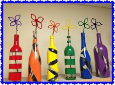 Pinterest Junkie: Wine Bottle Vases