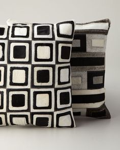 Hairhide Pillows at Horchow.