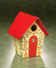 Bird House Kits Make Great Bird Houses Wooden Bird Houses, Bird Houses Painted, Bird Houses Diy, Fairy Houses, Painted Birdhouses, Bird House Plans, Bird House Kits, Birdhouse Designs, Bird Boxes