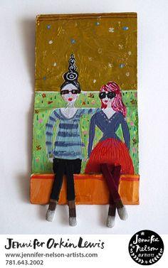 Best friends. Artwork: Jennifer Orkin Lewis