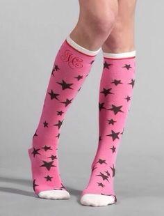 Pink & black socks