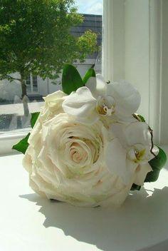 brudebuket, syet rose