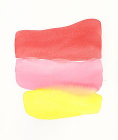 simple stack large original watercolor by Malissa Ryder via Etsy.