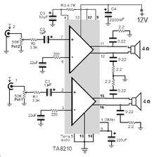 ► TA8210AH аудио усилитель 2x22W - www.amplifiercircuit.info