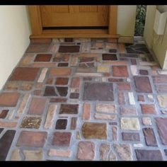 Stonelight Tile - San Jose, CA, United States. Custom Entry made in the Arts & Crafts Style by Stonelight Tiles San Jose Showroom.