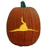 """One of 700+ FREE stencils for pumpkin carving and more! www.pumpkinlady.com """"Witch's Hat"""" #FreePumpkinCarvingPattern"""