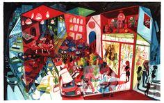 Brecht Evens, Vernissage Art And Illustration, Illustrations, Series Gratis, Bd Comics, Inspiration Art, Comic Artist, Art Pictures, Graphic Art, Graphic Novels