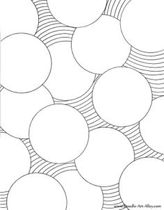 Geometric Coloring Pages, Adult Coloring Pages, Circles Coloring Page, Coloring… Doodle Drawing, Zentangle Drawings, Doodles Zentangles, Doodle Art, Easy Zentangle, Abstract Drawings, Doodle Patterns, Zentangle Patterns, Art Klimt