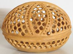 Elephant Inside an Intricately Carved Wooden Egg