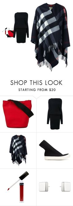 """""""Burberry - Checked Fringed Poncho"""" by twinklebluegem on Polyvore featuring Marni, Rito, Burberry, DRKSHDW and Georg Jensen"""