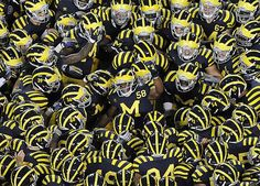 Michigan Football Under the Lights! Can't wait for tonights game! Michigan Wolverines Football, U Of M Football, Michigan Athletics, College Football Helmets, University Of Michigan, Football Season, Michigan Go Blue, Michigan Gear, Detroit Sports