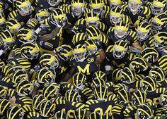 Michigan Go Blue, State Of Michigan, University Of Michigan, Michigan Gear, U Of M Football, College Football Helmets, Football Season, Michigan Athletics, Michigan Wolverines Football