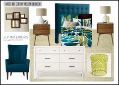 Home with Baxter: Mood Board Monday - Mid Century Modern Bedroom