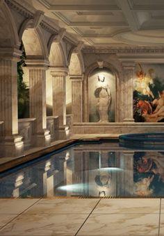 Luxurious indoor pool