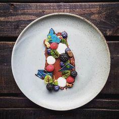 | Chocolate Mousse Raspberry Blackberry Blueberry Toasted Nut Yogurt Chervil Sorrel Chocolate | By @theinhomechef by simplistic_food