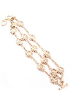 Concetta Coin Bracelet in Gold