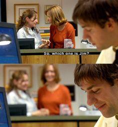 The office pam beesley jim halpert office memes, office quotes, movies show Office Quotes, Office Memes, Funny Office, Fandoms Unite, Dundee, Best Tv, The Best, The Office Show, The Office Jim