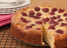 Raspberry and coconut sponge recipe 1