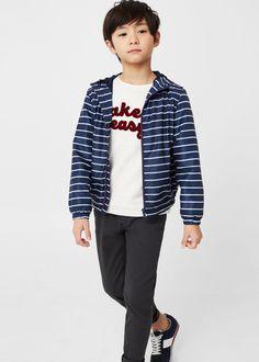 Water-repellent hooded jacket -  Kids | MANGO Kids USA