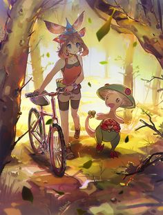 namface:   When i think of Hoenn I think of biking, mountain climbing, surfing.. you'd need to be really fit to live there. I like to think about the pokemon setting a lot… There's all this room for the imagination so i guess it makes it fun to draw