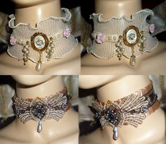 Good idea to do with my antique jewelry...  Vintage Jewelry Chokers by *sadwonderland on deviantART