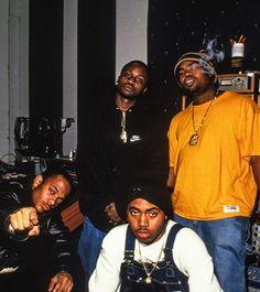 Mobb Deep, Nas and Raekwon   NYC - 1995   Photo by Chi Modu