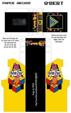 Paper Arcade #4: Q*bert   Flickr - Photo Sharing!