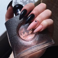 Turquoise Acrylic Nails, Best Acrylic Nails, Acrylic Nail Designs, Edgy Nails, Black Nails, Nails Now, Love Nails, Some Ideas, Nail Inspo