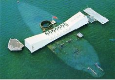 The USS Arizona Memorial.  Almost every shipwreck sunk during wartime is a declared National Monument and a Shrine to the men entombed there, may they rest in peace.