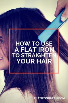 How to use a flat iron to straighten your hair tutorial by Kathy at flatironqueen.com #flatironqueen