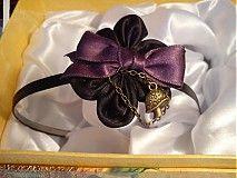 purple black diy vintage fabric flower headband