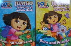 DORA the EXPLORER (2 COLORING & ACTIVITY BOOKS) by Viacom International. $7.95. Set of 2 Dora the Explorer Coloring & Activity books, Dora All Year Long & Dora & Friends, 48x2-sided pages each