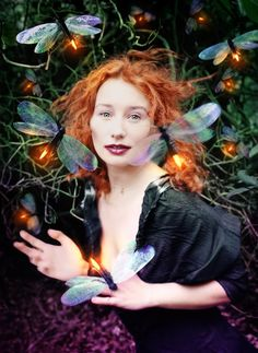 """""""Tori Amos: Her Secret Garden"""" Rolling Stone, 1998.  Photograph by David LaChapelle. (Alfred Eisenstaedt best cover of the year photography award, 1999)"""