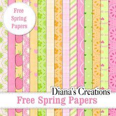 Free Baby Digital Scrapbook Paper | Free Spring Papers | Freebies | Digital Scrapbooking