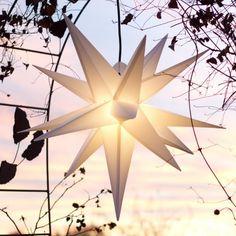 Mit LED Außenstern Stern Outdoor weiss - beleuchteter