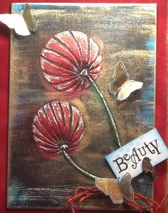 Lantern Pods stencil, on canvas using GP.....all from Clarirystamp....by Jo…