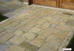 Concrete Paver Molds — New Decoration : Easy Patio Pavers Ideas Natural Stone Pavers, Paving Stones, Natural Stones, Concrete Paver Mold, Brick Pavers, Sandstone Pavers, Paver Walkway, Garden Floor, Top Soil