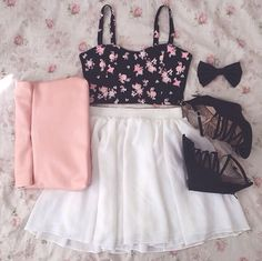<3 teen fashion Outfit! The Fashion: Gorgeous dress black fur Summer outfits Teen fashion Cute Dress! Clothes Casual Outift for • teenes • movies • girls • women •. summer • fall • spring • winter • outfit ideas • dates • school • parties mint cute sexy ethnic skirt