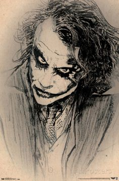 A great poster of a sketch of The Joker! Based on Heath Ledger from Christopher Nolan's Batman Dark Knight movie. Our amazing selection of Batman posters will drive you batty! Need Poster Mounts. Dc Comics Poster, Batman Poster, Comic Poster, Comic Art, Comic Book, Movie Posters, Joker Sketch, Joker Drawings, Joker Pics