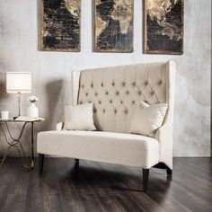 Furniture of America Allier Romantic Tufted Wingback Loveseat Bench - Free Shipping Today - Overstock.com - 17081371