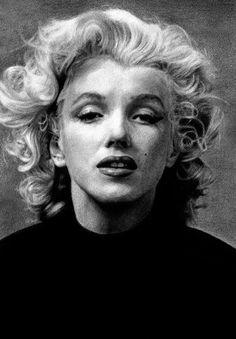 Marilyn Monroe. Portrait à la mine graphite