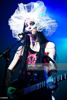 Vocalist Kimberly Freeman of One-Eyed Doll performs at the Observatory on March 23, 2012 in Santa Ana, California.