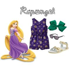 Rapunzel Inspired Casual Girl Outfit