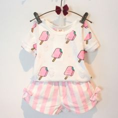 Patchwork Pattern O Neck Cotton Fashion Clothing Sets For Girls. #ShopOnline #MehdiGinger